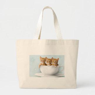 Teacup Kittens Jumbo Tote Bag