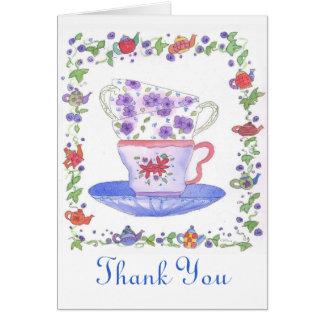 Teacup Stack Tea Time Thank You Card