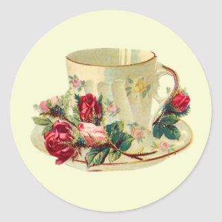 Teacup Time Round Sticker