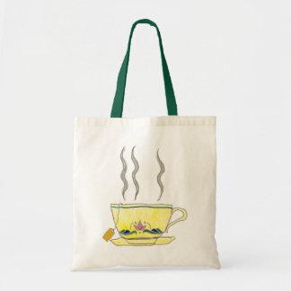 teacup budget tote bag
