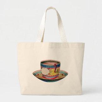 teacup vintage tote bags