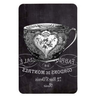 teacup vintage Chalkboard bridal shower tea party Rectangular Magnets