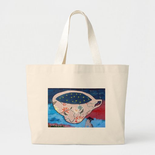 Teacup with Stars Canvas Bags
