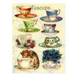 Teacups for Tea Time Post Cards