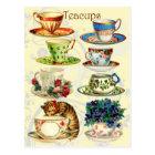 Teacups for Tea Time Postcard