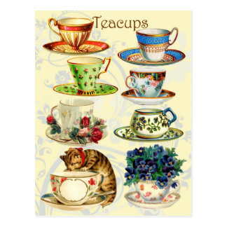 Teacups for Tea Time Postcard