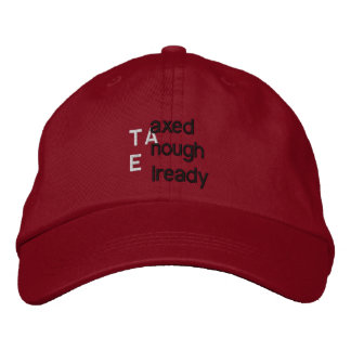 TEA'd Embroidered Cap