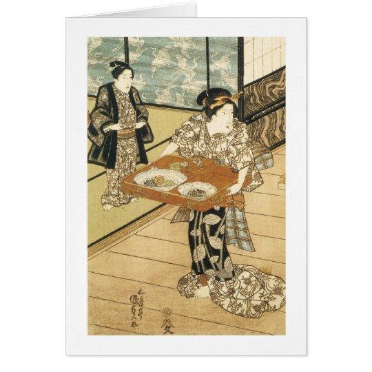 Teahouse at Edo, Kumisada, 1837 Card