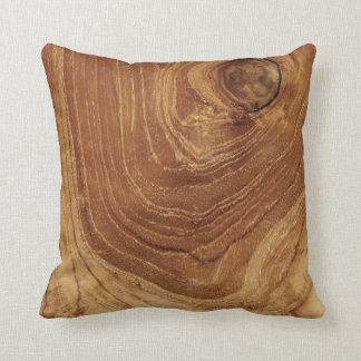 Teak Rustic Wood Grain Nature Wooden Cushion