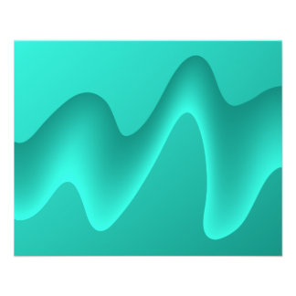 Teal Abstract Design Image Personalized Flyer