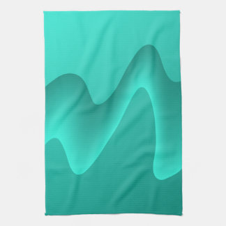 Teal Abstract Design Image. Tea Towel