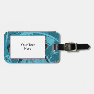 Teal Abstract. Luggage Tag
