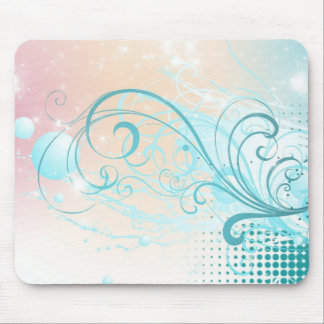Teal Abstract Mouse Pad