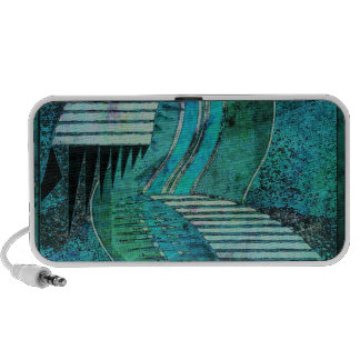 Teal Abstract iPhone Speaker