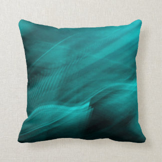 Teal Abstract- Throw Pillow Throw Cushions
