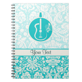 Teal Acoustic Guitars Notebook