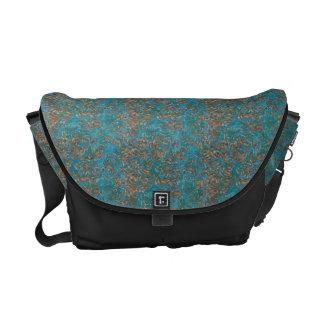 Teal Aged Copper Patina pattern Messenger Bag