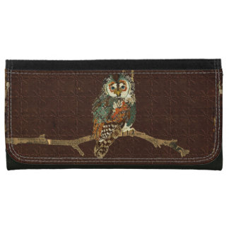 Teal & Amber Owl Wallet