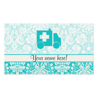 Teal Ambulance Business Card Template
