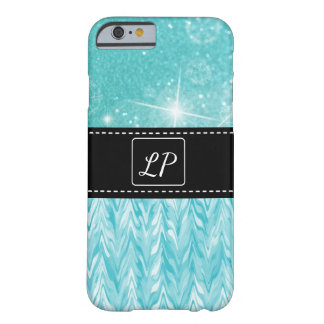 Teal and Black Monogrammed Cell Case