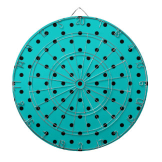Teal and Black Polka Dot Pattern. Dartboard