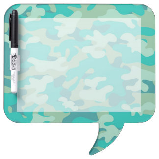 Teal and Blue Camo Dry-Erase Whiteboard
