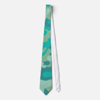 Teal and Blue Camo Tie