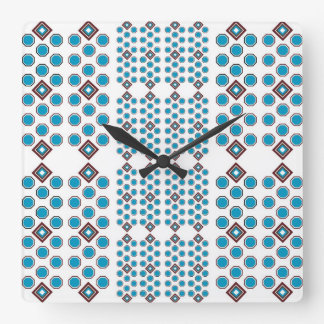 Teal and Brown Geometric Wall Clock