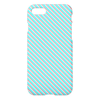 Teal and Coral Stripes iPhone 7 Case