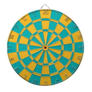Teal And Gold Dartboard
