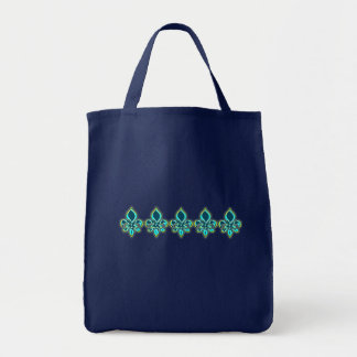 Teal and Gold Fleur de Lis Art Bag