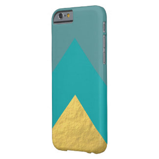 Teal and Gold Geometric iPhone Case