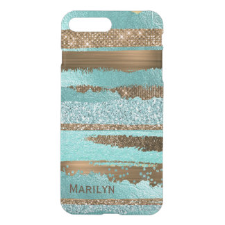 Teal and Gold Glam iPhone 7 Plus Case