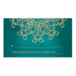 Teal and Gold Indian Inspired Seating Place Card Pack Of Standard Business Cards