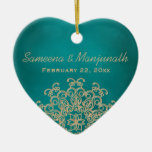 Teal and Gold Indian Style Wedding Party Favour