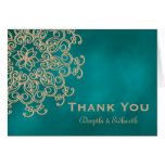 TEAL AND GOLD INDIAN STYLE WEDDING THANK YOU