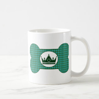 Teal and Green with Green Crown.png Basic White Mug