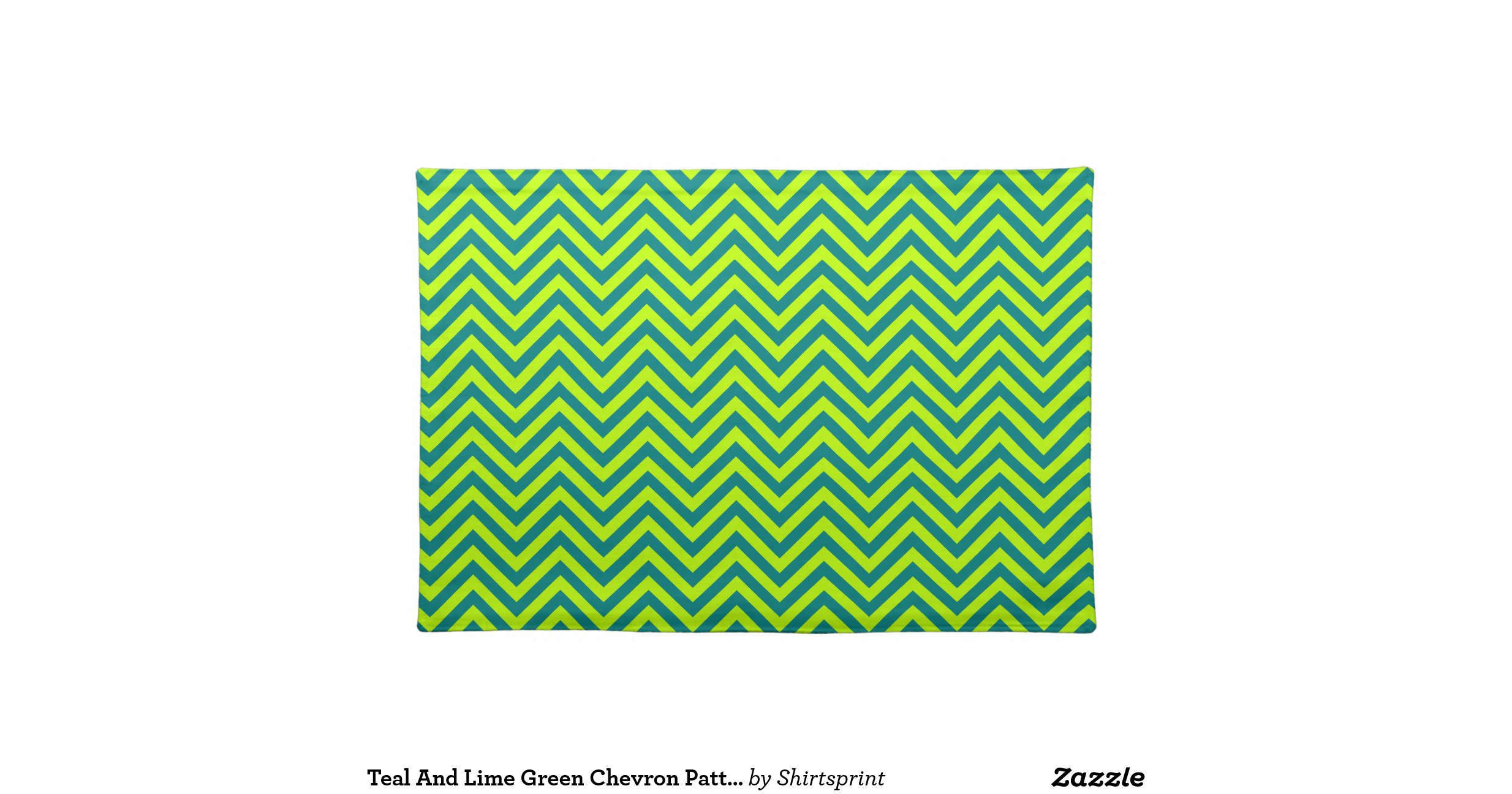 Teal And Lime Green Chevron Pattern Placemats Zazzle