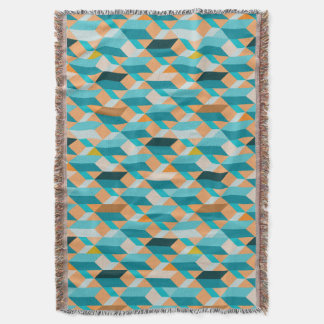 Teal And Orange Shapes Pattern