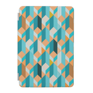 Teal And Orange Shapes Pattern iPad Mini Cover