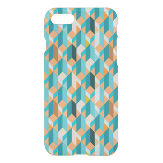 Teal And Orange Shapes Pattern iPhone 8/7 Case