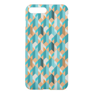 Teal And Orange Shapes Pattern iPhone 8 Plus/7 Plus Case