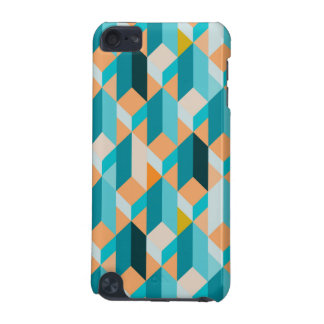 Teal And Orange Shapes Pattern iPod Touch 5G Cases