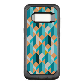 Teal And Orange Shapes Pattern OtterBox Commuter Samsung Galaxy S8 Case