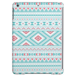 Teal and Pink Aztec Tribal Pattern