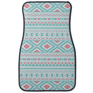Teal and Pink Aztec Tribal Pattern Car Mat