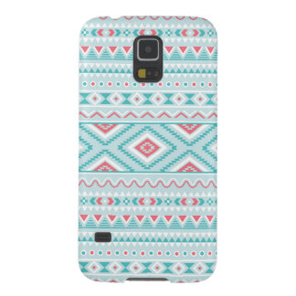 Teal and Pink Aztec Tribal Pattern Cases For Galaxy S5