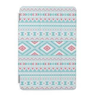 Teal and Pink Aztec Tribal Pattern iPad Mini Cover