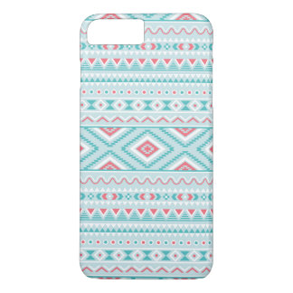 Teal and Pink Aztec Tribal Pattern iPhone 8 Plus/7 Plus Case