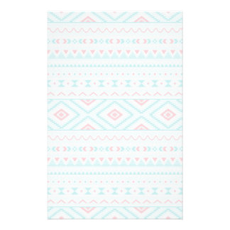 Teal and Pink Aztec Tribal Pattern Personalised Stationery